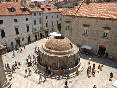 The Large Onophrian Fountain Dubrovnik Croatia