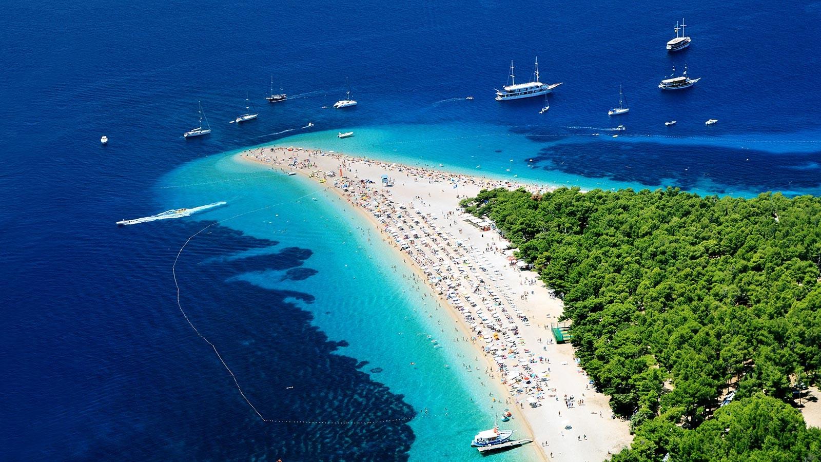 Bol Brač Zlatni Rat Beach croatia cruise