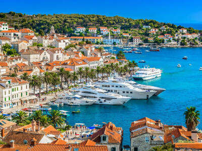 hvar island cruise port in croatia